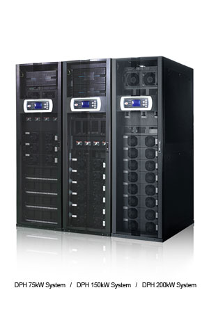 Delta Data Center - DPH Series, Three Phase, 25 - 75/150/200 kW, Scalable up to 800 kW in parallel