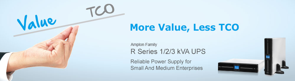 Delta R 1/2/3 kVA UPS - More Value, Less TCO