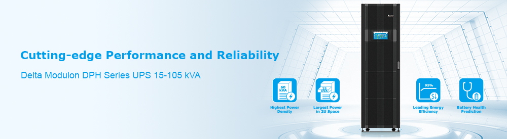 Delta DPH 15-105 kVA UPS - Cutting-edge Performance and Reliability