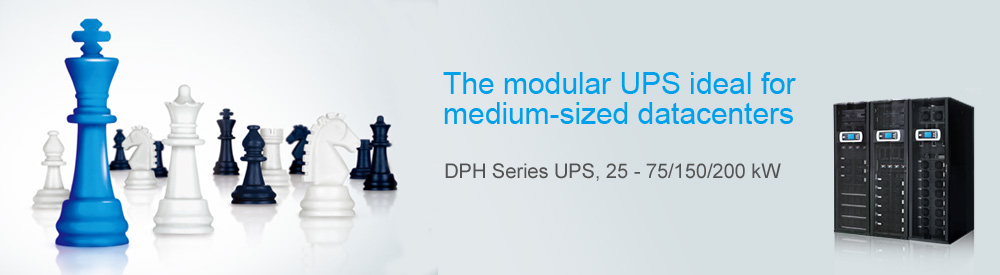 The modular UPS ideal for medium-sized datacenters - DPH Series UPS 25 - 75/150/200 kW