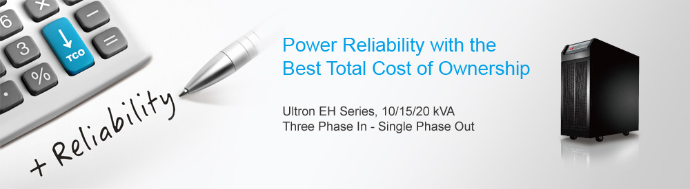 Delta UPS EH Series, Three Phase In - Single Phase Out, 5/10/20 kVA