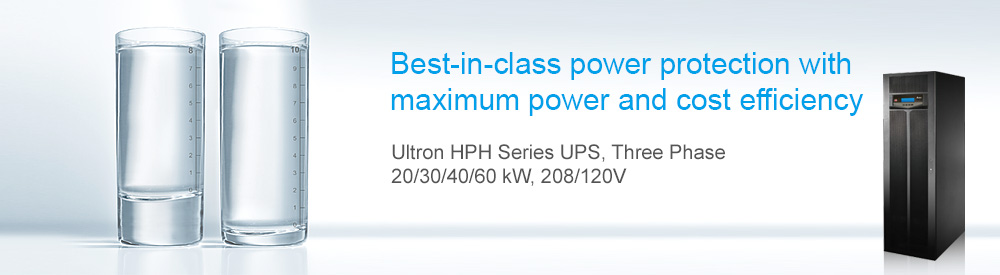 Delta HPH Series UPS, Three Phase, 20/30/40/60 kVA/kW, 208/120V