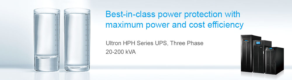 Delta - Ultron HPH Series UPS, Three Phase, 20/30/40/60/80/100/120/160/200 kVA