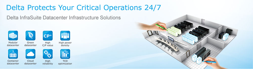 Delta InfraSuite - datacenter solutions protect your critical operations 24/7