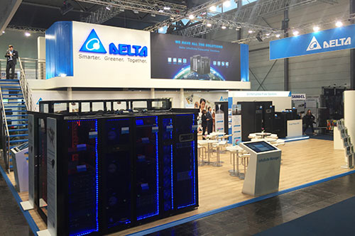 Delta showcased at CeBIT 2017 its extensive portfolio of energy-efficient and smart Datacenter Infrastructure Solutions, already bolstering the creation of green datacenters and edge computing datacenters