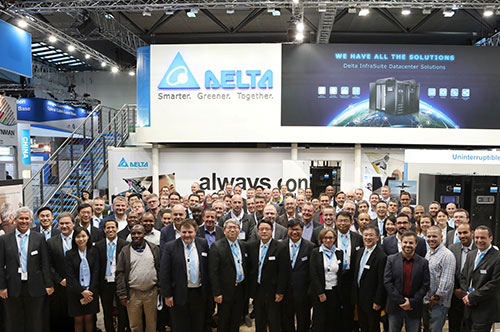 Delta's team and channel partners had a group photo at our booth.