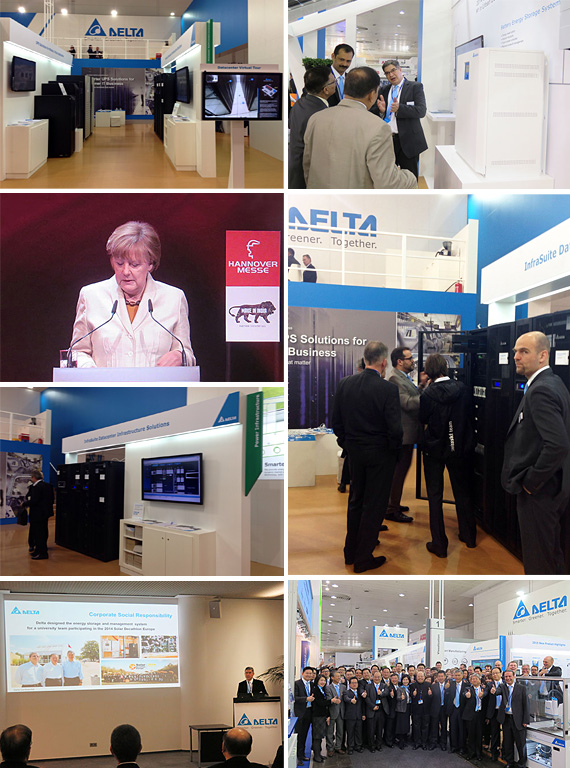 Delta Presents the Smart and Energy-efficient InfraSuite Datacenter Infrastructure Solutions at Hannover Messe 2015
