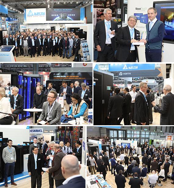 Delta auch in diesem Jahr auf der CeBIT in Hannover: Innovative Lösungen für das Rechenzentrum begeistern Besucher
