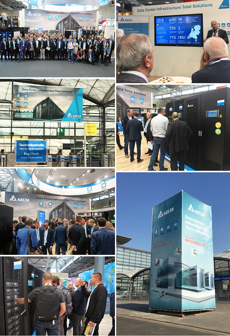 Delta at the CEBIT 2018: Latest infrastructure solutions for edge and cloud data centre attract great interest