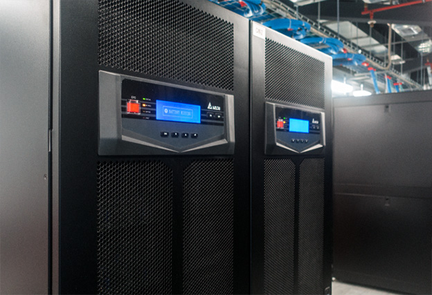 Delta's Ultron HPH series online UPSs are installed to protect IT equipment and precision cooling systems in the data centers.