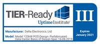 "Delta's POD solution was recently awarded ""Uptime Tier III Ready"" certification."