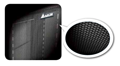 Modular Server Racks with 70% Perforation by Delta