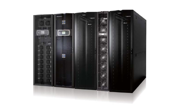 The Modulon DPH is designed in modern IT aesthetics aligned with Delta InfraSuite datacenter solutions.